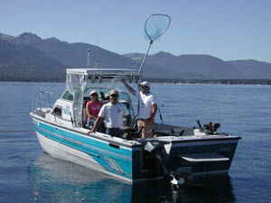 The crystal ble waters of Lake Tahoe guest provide excellent fishing year round