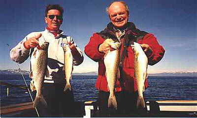 The fish in this photo were caught by Accommodation Tahoe guests on the First Strike boat in November