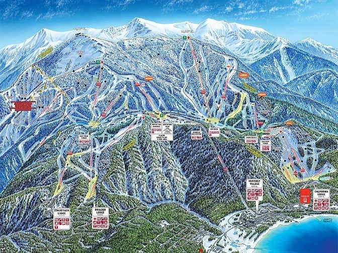 lake tahoe resorts map Heavenly Valley Ski Resort lake tahoe resorts map