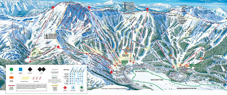 lake tahoe piste map Kirkwood Ski Resort lake tahoe piste map